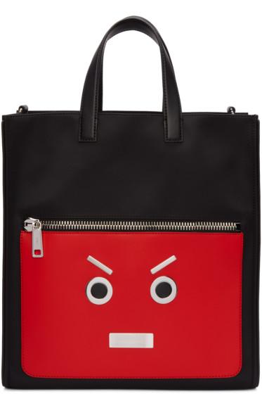 Fendi - Black & Red 'Fendi Faces' Tote