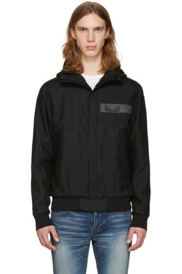 Fendi - ブラック フード ジャケット