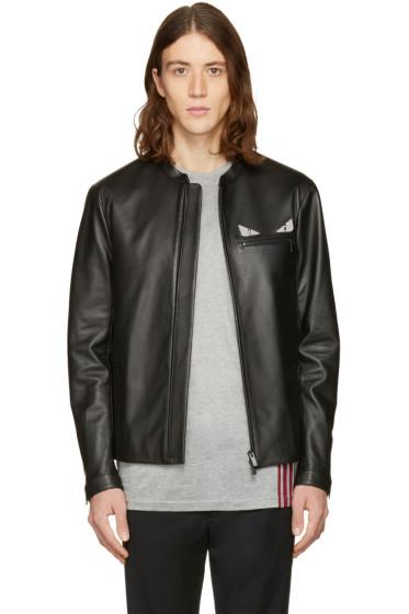 Fendi - Black Leather Bag Bugs Jacket