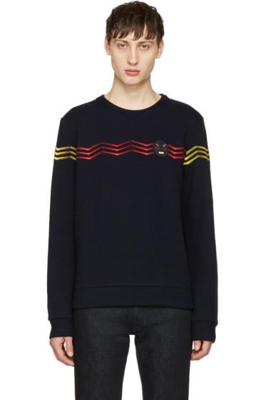 Fendi - Navy Zig Zag Pullover