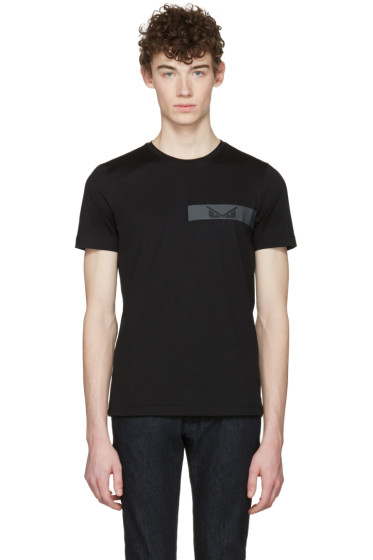 Fendi - Black 'Bag Bugs' T-Shirt