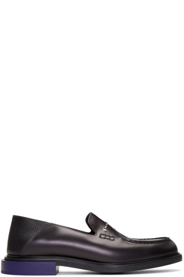 Fendi - Black Convertible Loafers