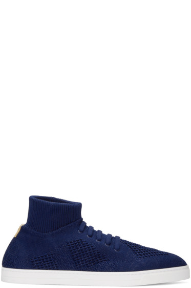 Fendi - Blue Sock Slip-On Sneakers
