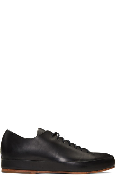 Feit - Black Hand Sewn Low Sneakers