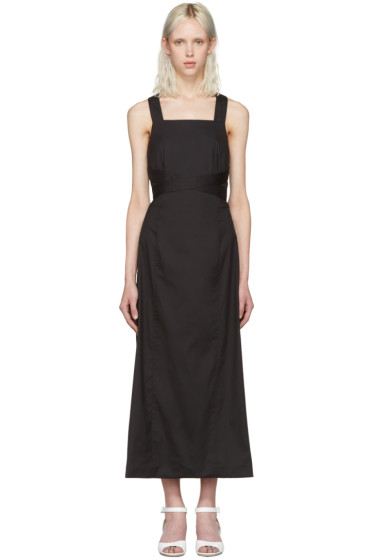 Rosetta Getty - Black Apron Wrap Dress
