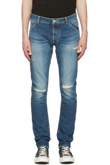 Attachment - Indigo Distressed Skinny Jeans