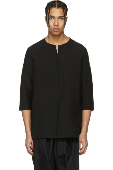 Attachment - Black Oversized Linen Shirt
