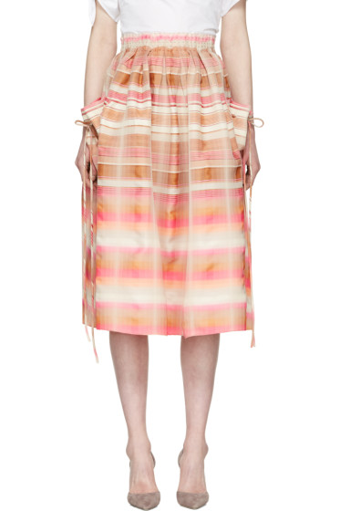 Brock Collection - Pink & Beige Stella Skirt