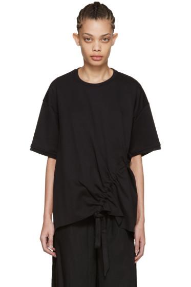 Marques Almeida - Black Side Cord T-Shirt