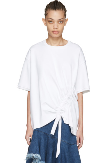 Marques Almeida - White Side Cord T-Shirt