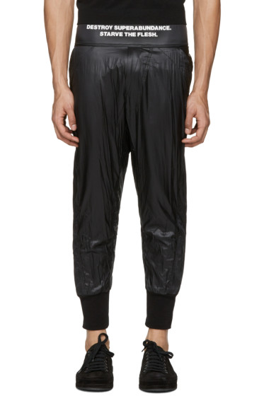 NILøS - Black Taffetta Lounge Pants
