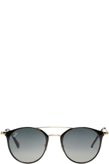 Ray-Ban - Black Double Bridge Sunglasses