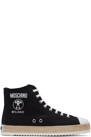 Moschino - Black Espadrille High-Top Sneakers
