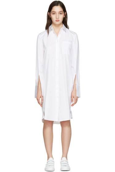 Atea Oceanie - ホワイト ワイド カフ ドレス