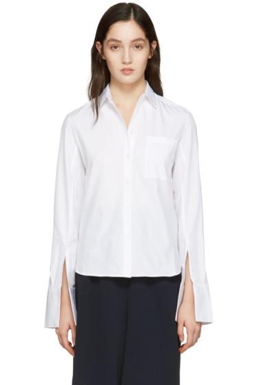 Atea Oceanie - ホワイト ワイド カフ シャツ