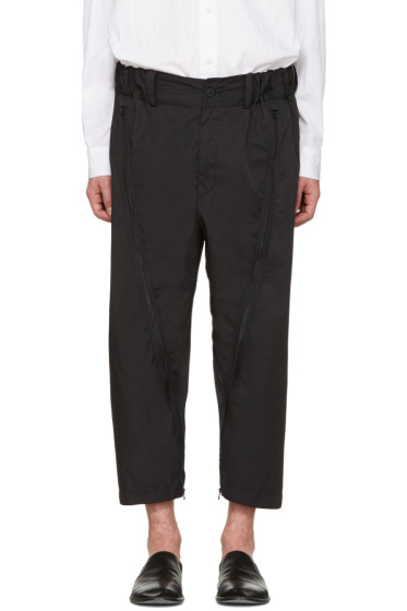 Issey Miyake Men - Black Adjustable Silhouette Trousers