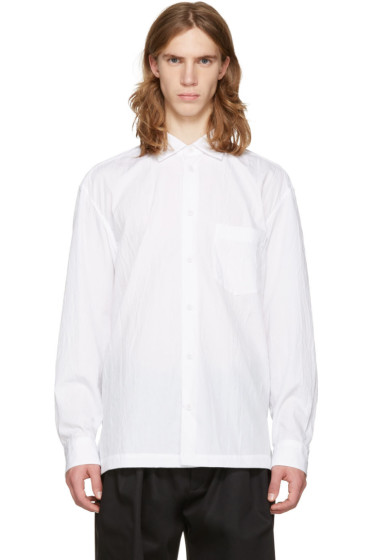 Issey Miyake Men - White Wrinkled Classic Shirt