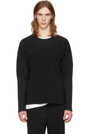 Homme Plissé Issey Miyake - Black Classic Pleats Long Sleeve T-Shirt