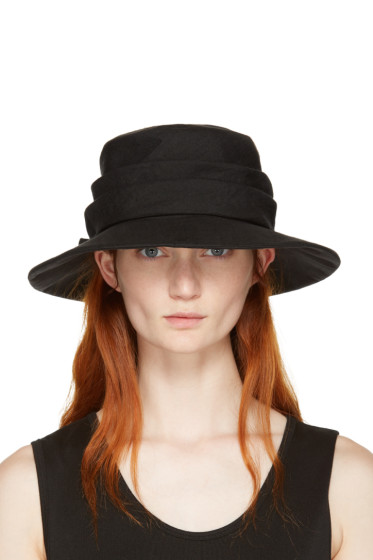 Y's - Black Ribbon Cloche Hat