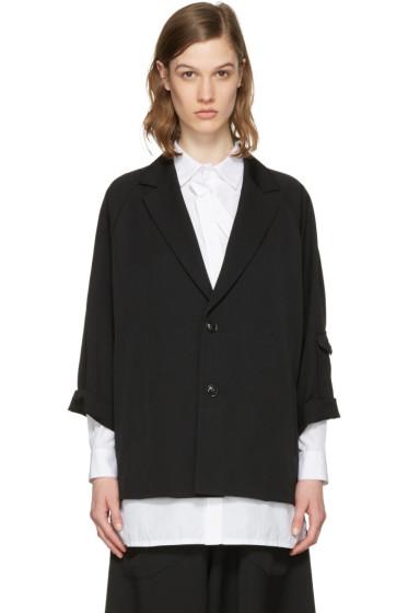 Y's - Black Raglan Sleeve Blazer