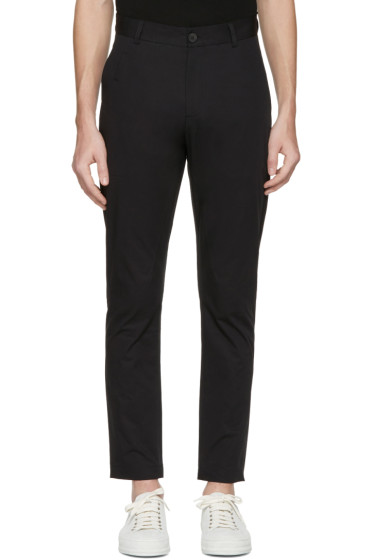 Isabel Benenato - Black Cotton 5-Pocket Trousers
