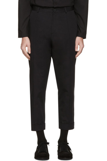 Isabel Benenato - Black Cotton Trousers