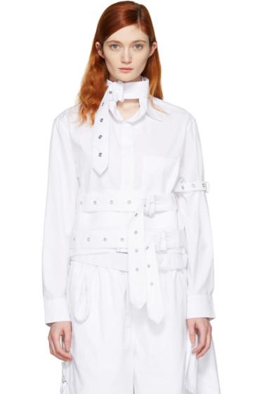 Craig Green - White Cotton Cropped Shirt