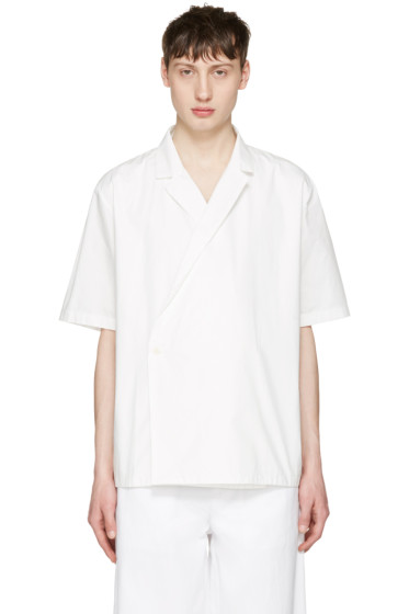 Sunnei - White Open Collar Shirt