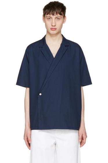 Sunnei - Navy Open Collar Shirt