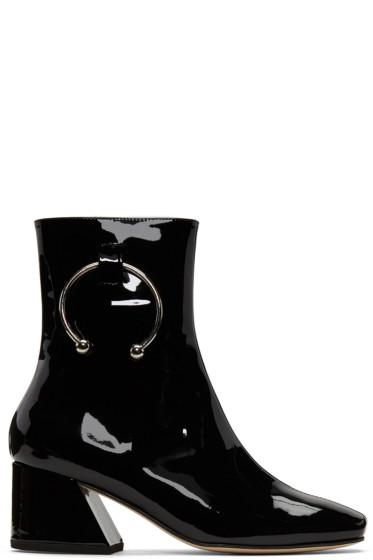 Dorateymur - ブラック パテント ニジプ ブーツ