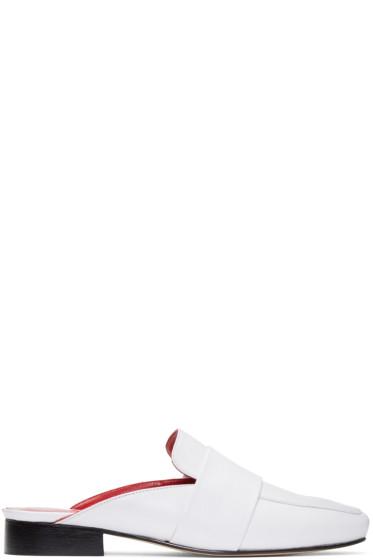 Dorateymur - ホワイト フィリスキ ローファー