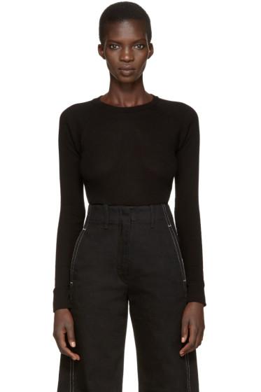 Enfold - Black Ribbed T-Shirt