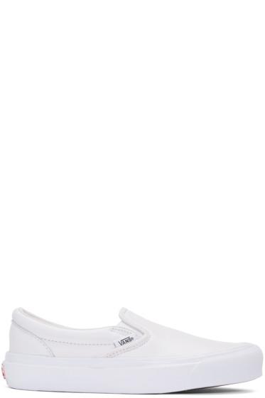 Vans - White OG Classic LX Slip-On Sneakers