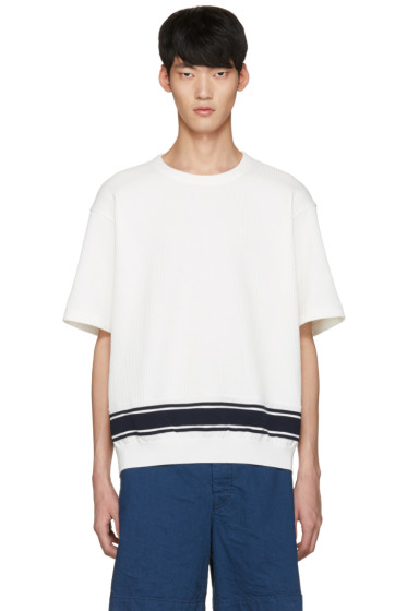 Tomorrowland - White Stripe Knit T-Shirt