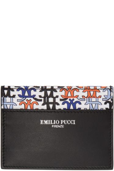 Emilio Pucci - ブラック ロゴ カード ホルダー