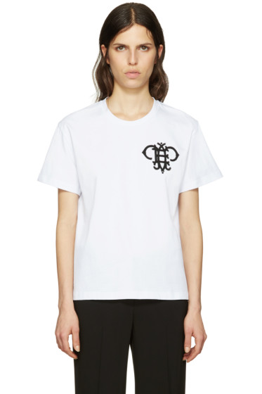 Emilio Pucci - White Embroidered Logo T-Shirt