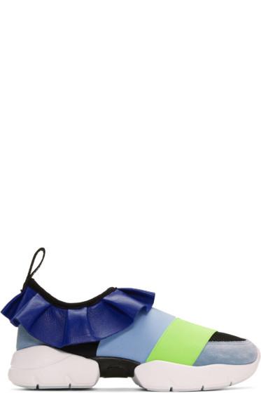 Emilio Pucci - ブルー カラーブロック スニーカー