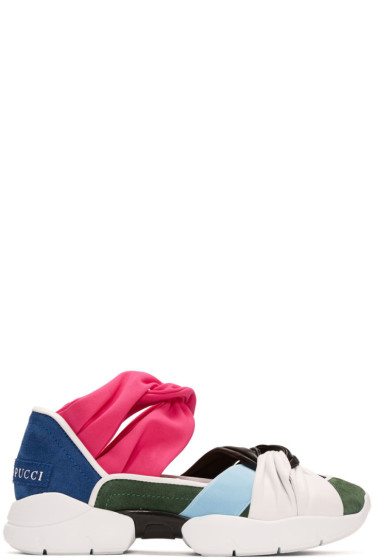 Emilio Pucci - マルチカラー カラーブロック スニーカー