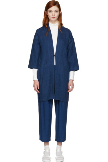 Blue Blue Japan - Manteau indigo Hanten