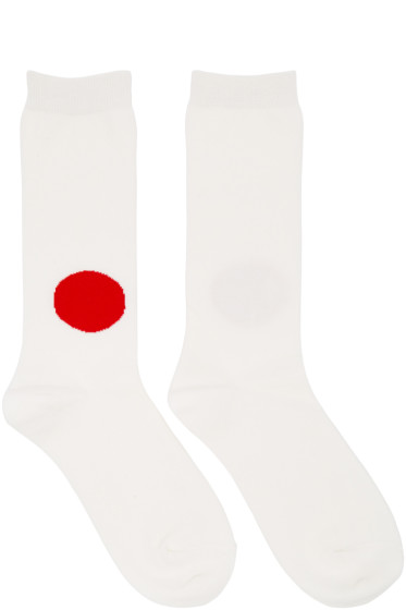 Blue Blue Japan - Ecru Japan Flag Socks
