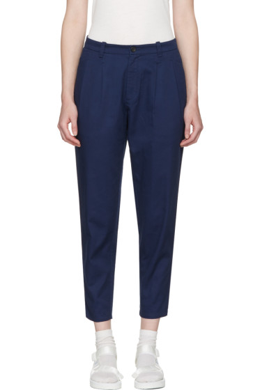 Blue Blue Japan - Navy Tucked Trousers