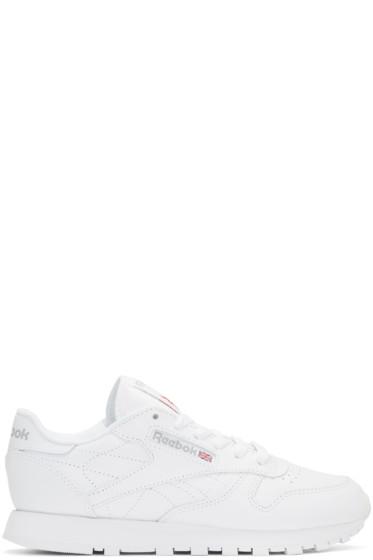 Reebok Classics - White Leather Classic Sneakers