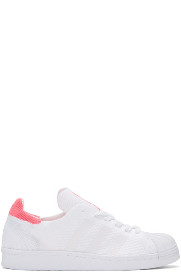 adidas Originals - White & Pink Superstar 80's PK Sneakers