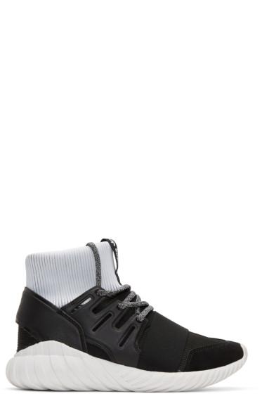 adidas Originals - Black Tubular Doom High-Top Sneakers