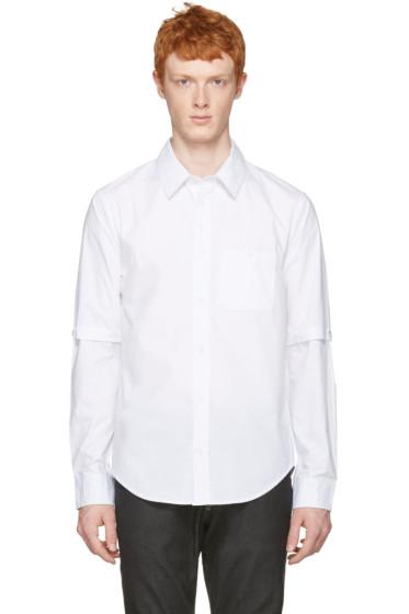 Telfar - ホワイト デタッチャブル スリーブ シャツ