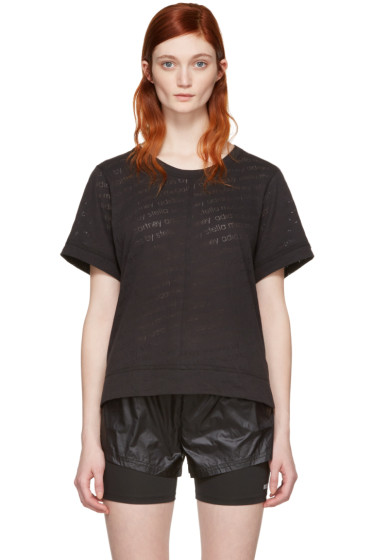 adidas by Stella McCartney - Black Burnout T-Shirt