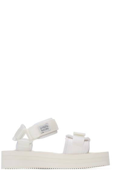 Suicoke - ホワイト Cel-VPO フラットフォーム サンダル