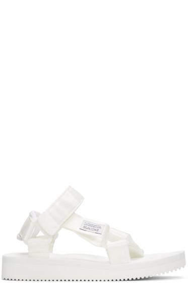 Suicoke - White Depa Classic Sandals