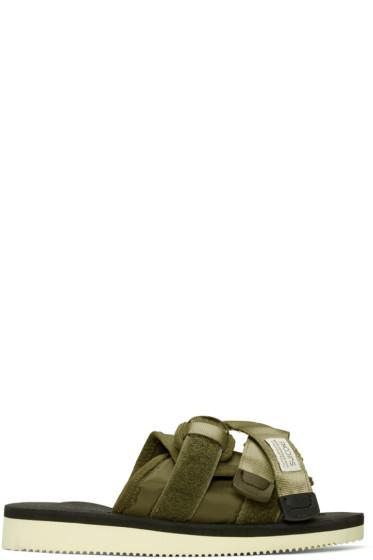 Suicoke - Green Moto Sandals