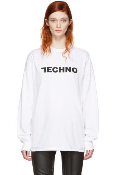 Alyx - White 'Techno' Long Sleeve T-Shirt